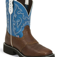 Justin Gypsy Saddle Vamp Cowgirl Boots - Square Toe - Sheplers