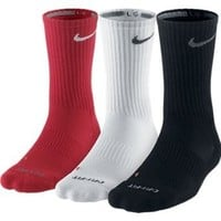 Nike SX4206 Dri-Fit Half-Cushion Crew Socks - 3 pack