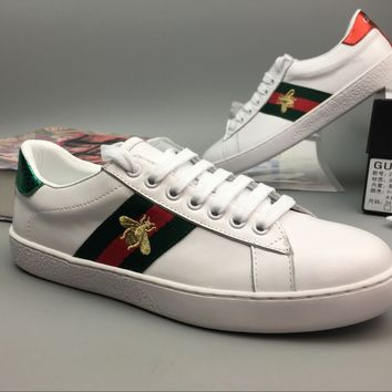 Gucci Old Skool Women Fashion Embroidery Bee Sneakers Sport Shoes-