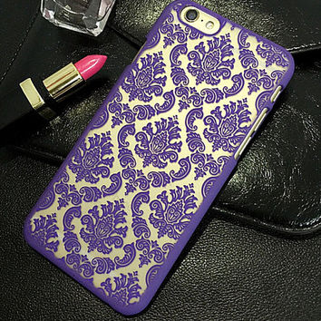 Court Floral creative case for iPhone 5s 6 6s Plus Lover Gift-88