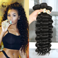 4 Bundles 7A Unprocessed Human Hair Queen Hair More Wave/ Natural Wave