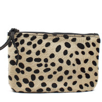 Spotted Cowhide Medium Pouch