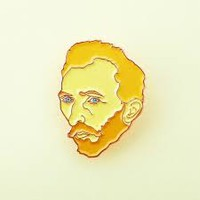 van gogh button pin enamel - Google Search