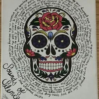 Sugar Skull/Song Lyric Painting