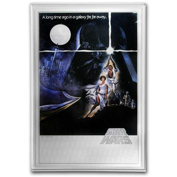 2018 Niue 35 gram Silver $2 Star Wars A New Hope Foil Poster