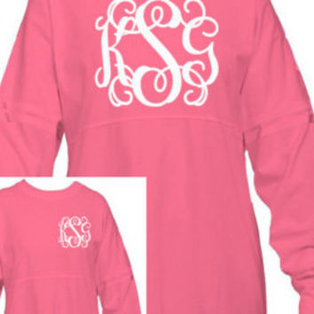Monogram Spirit Shirt Personalized Pom Pom Jersey