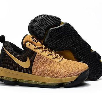 ONETOW Nike KD 9 Black Golden Basketball Shoes