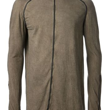 Isaac Sellam Experience hooded leather trim top