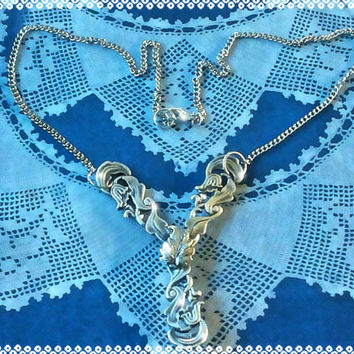 Handmade OOAK silver spoons necklace