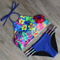Printed Swimwear Women Bikini Set