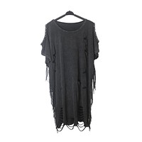 Riveted Distress Oversized T-Shirt