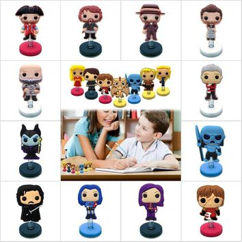 Mixed 10pcs Outlander/Descendants/Game of Thrones Hot Cartoon Figure PVC Standing Doll Home Decor Car Accessories Kid Party Gift