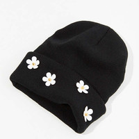 Double Knit Daisy Beanie | Urban Outfitters