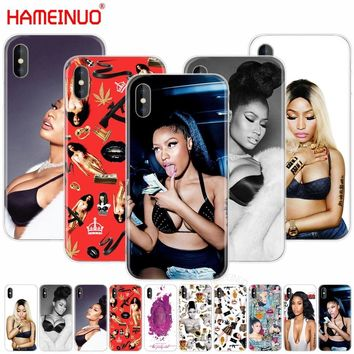 HAMEINUO Nicki Minaj Fashion Coque cell phone Cover case for iphone X 8 7 6 4 4s 5 5s SE 5c 6s plus