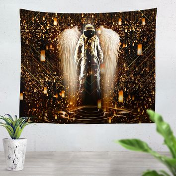 Astronaut Wings Tapestry