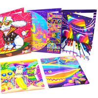Vintage Lisa Frank Folders Save Our Planet Folder Lisa Frank Binder Folders Set of 5 Folders 80s Lisa Frank Trends