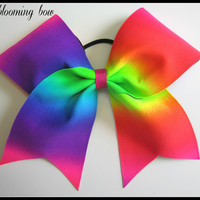 Cheer Bow - Neon Rainbow