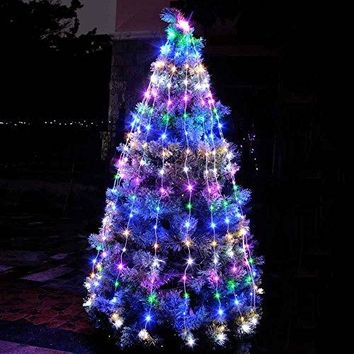 Fairy Starry String Lights 240 LED Copper Wires with 12 Wires (Waterproof not includes Power Adapter) for Indoor, House, Home, Garden, Patio, Wedding, Christmas Tree Decorations(Multi Color)