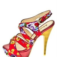 1 to 3 Floral Print Cross Straps Heels - Women's Shoes Collection - Modnique.com