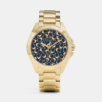 Tristen Sprayed C Dial Gold Plated Bracelet Watch