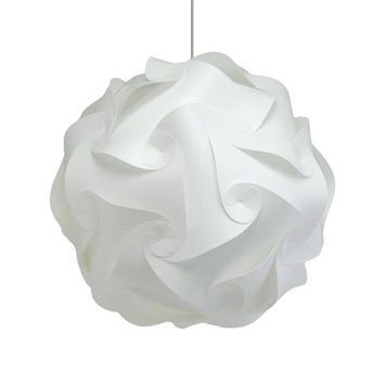 "Akari Lanterns Medium Swirl 16"" Warm White Glow, Modern Ceiling Hanging Light Fixtures Plug in or Hardwire Pendant Lamp Shade, bulb included"