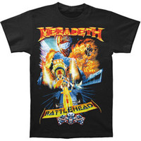 Megadeth Men's  T-shirt Black