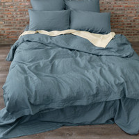 Linen Duvet Cover French Blue