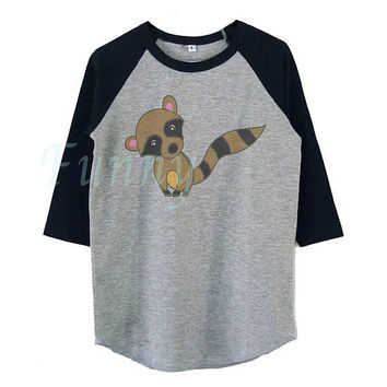 Raccoon shirt kids boy girl tops Raccoon tee **raglan shirt toddler **Youth baseball t shirt **Funny tshirt