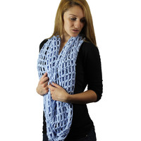 Large Open Net Knit Infinity Scarf