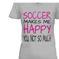 SOCCER MAKES ME HAPPY TEE
