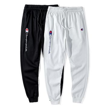 Champion New fashion embroidery letter pants sports leisure couple pants