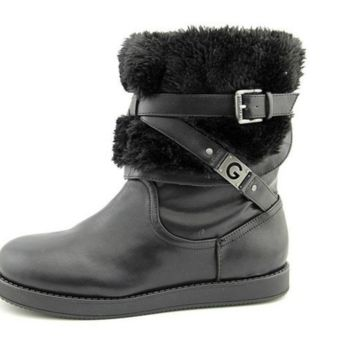 G By Guess Alta2-X Womens Black Faux Leather Winter Boots - 8M