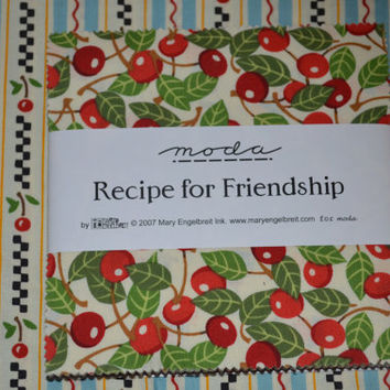Moda Recipe for Friendship charm pack OOP HTF Mary Engelbreit
