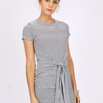 Helen Tie Front Striped Dress