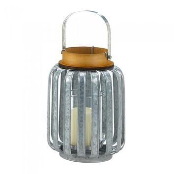 Large Galvanized Metal Lantern