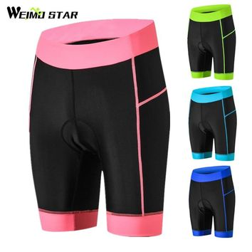 Weimostar New Women Cycling Shorts Coolmax 3D Padded Shockproof Bicycle Shorts mtb Road Bike Shorts bermuda Ropa Ciclismo