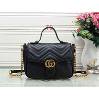 GUCCI Women Fashion Leather Chain Handbag Satchel Shoulder Bag Crossbody