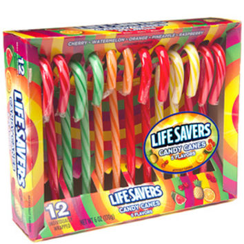 Life Savers Candy Canes: 12-Piece Box