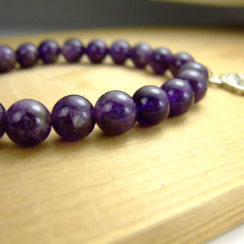 Amethyst Zen Bracelet for Tranquility Tree of Life by AnandaBijoux