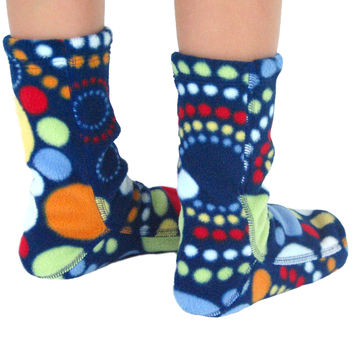 Kids' Fleece Socks - Galaxy