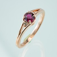 Ruby and Diamond Rose Gold Ring