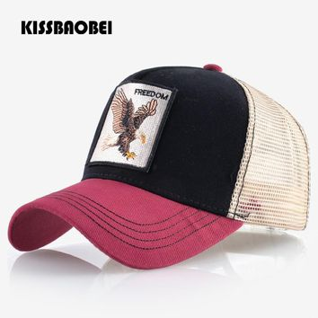 Trendy Winter Jacket Eagle Embroidery Baseball Cap Men Women Snapback Caps Breathable Mesh Hip Hop Hats Unisex Casual Eagle Bone Casquette Gorras Men AT_92_12