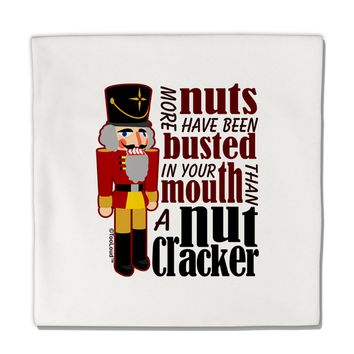 """More Nuts Busted - Your Mouth Micro Fleece 14""""x14"""" Pillow Sham by TooLoud"""