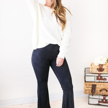 Flare Affair Suede Flare Pants