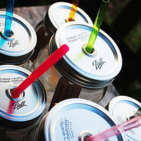 Super Fun Mason Jar Tumbler Lid and Straw Only by UnuselessGoods