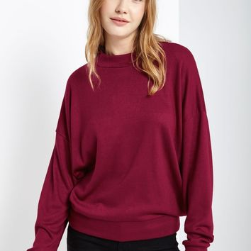 Nica Mock Neck Long Sleeve Sweater Top