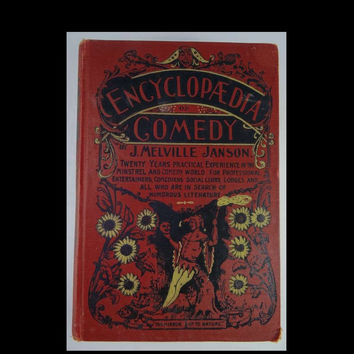 Encyclopedia of Comedy 1899 Old Antique Hardcover Book
