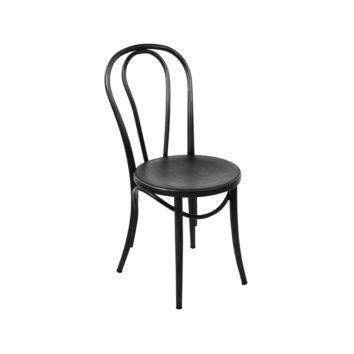 Thonet Style Black Retro Bentwood Steel Side Chair (Set of 2)