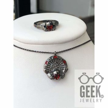 Darth Claddagh Ring and Pendant Gift Set