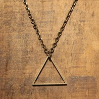 We Are All Smith: Triangle Necklace, at 38% off!